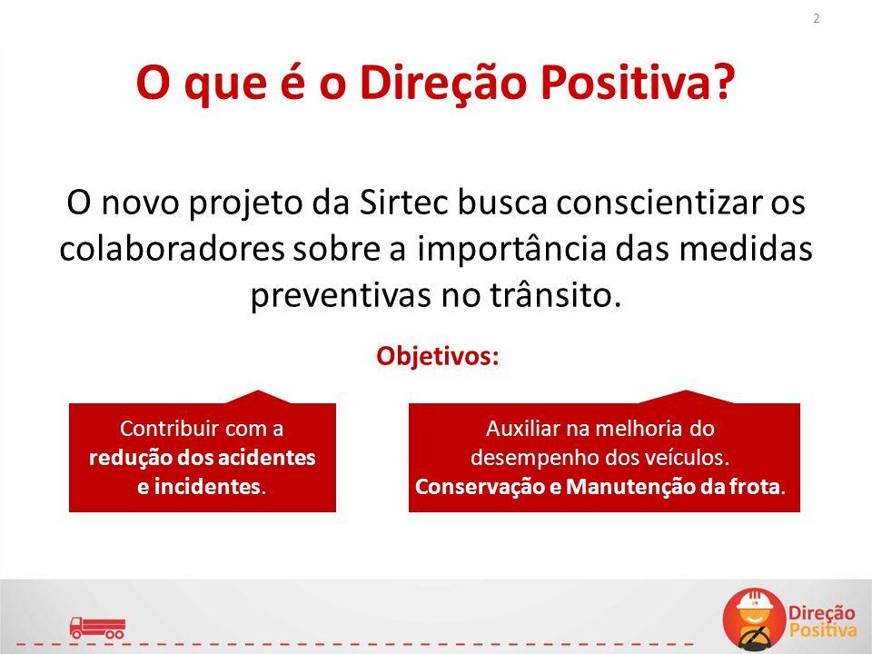 O que é o Direção Positiva? O novo projeto da Sirtec busca conscientizar os colaboradores sobre a importância das medidas preventivas no trânsito. Con