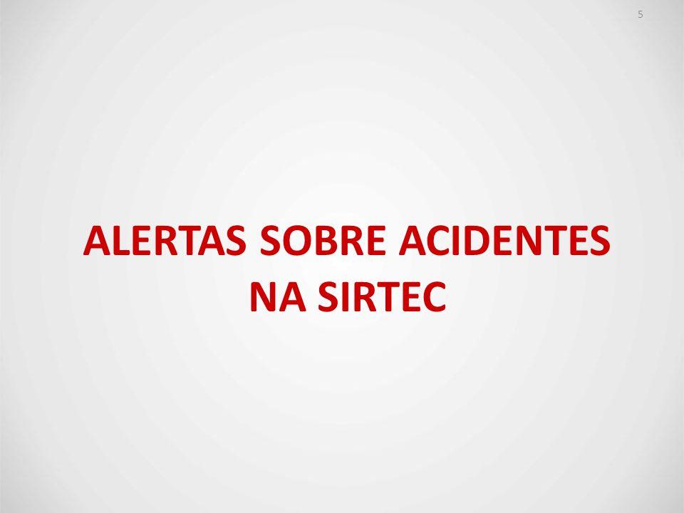 ALERTAS SOBRE ACIDENTES NA SIRTEC 5