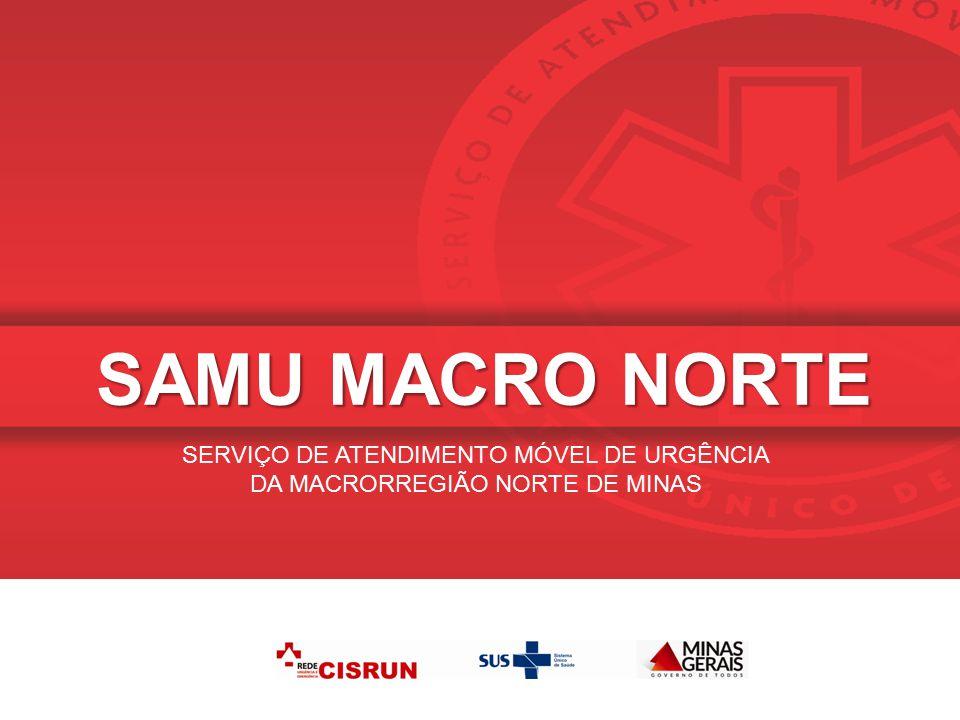 Atendimentos realizados pelo SAMU Macro Norte JANEIRO 2015 Relatório Estatístico