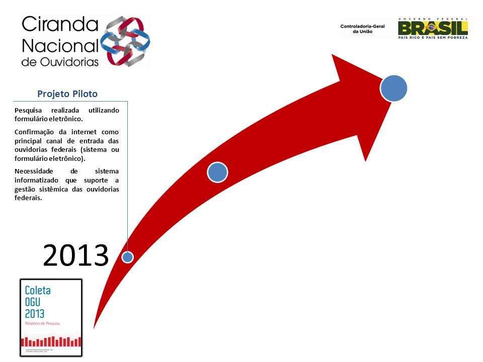 2013 Pesquisa realizada utilizando formulário eletrônico.