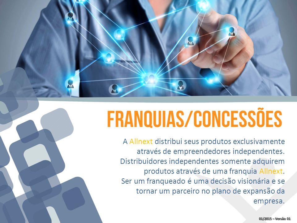 A Allnext distribui seus produtos exclusivamente através de empreendedores independentes.