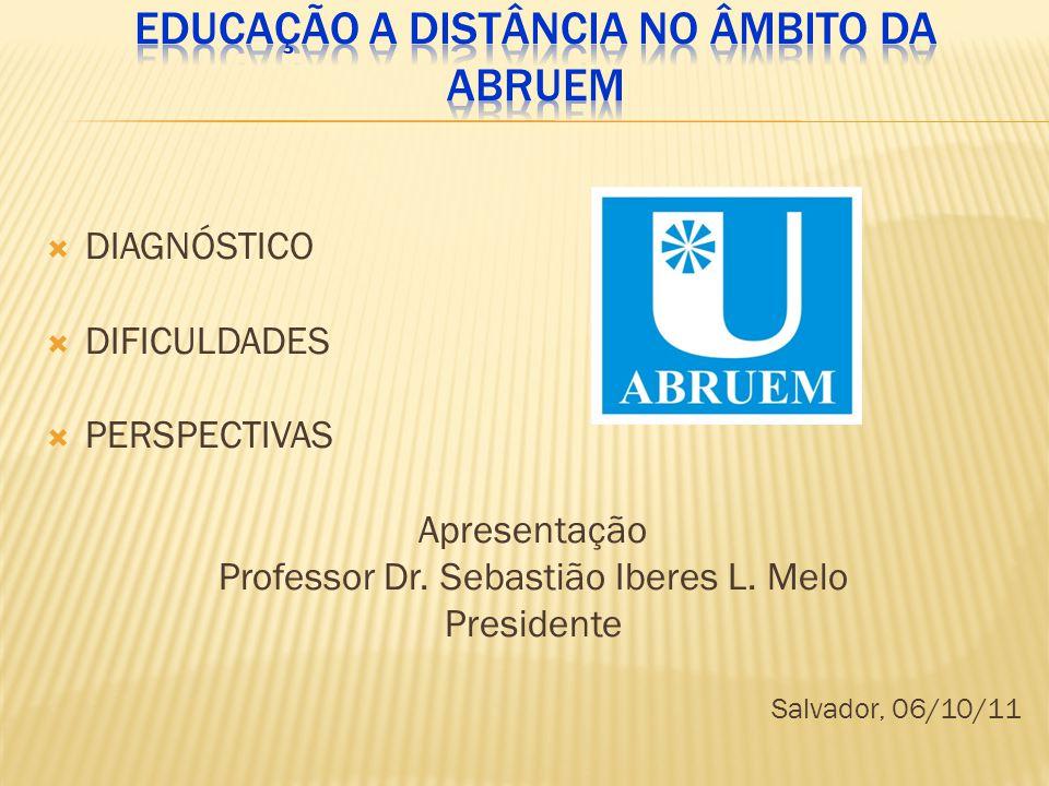  DIAGNÓSTICO  DIFICULDADES  PERSPECTIVAS Apresentação Professor Dr.