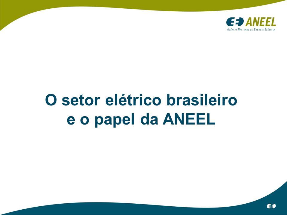 O setor elétrico brasileiro e o papel da ANEEL