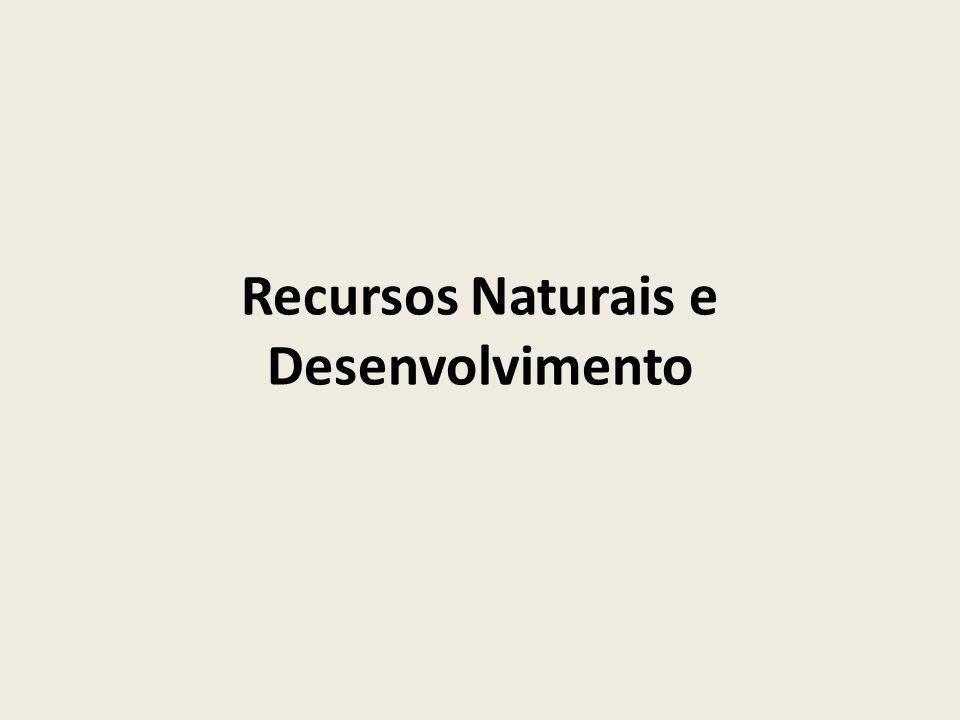 Recursos naturais e desenvolvimento  O homem transforma a natureza para perpetuar sua existência: alimentos: Flora e Fauna.