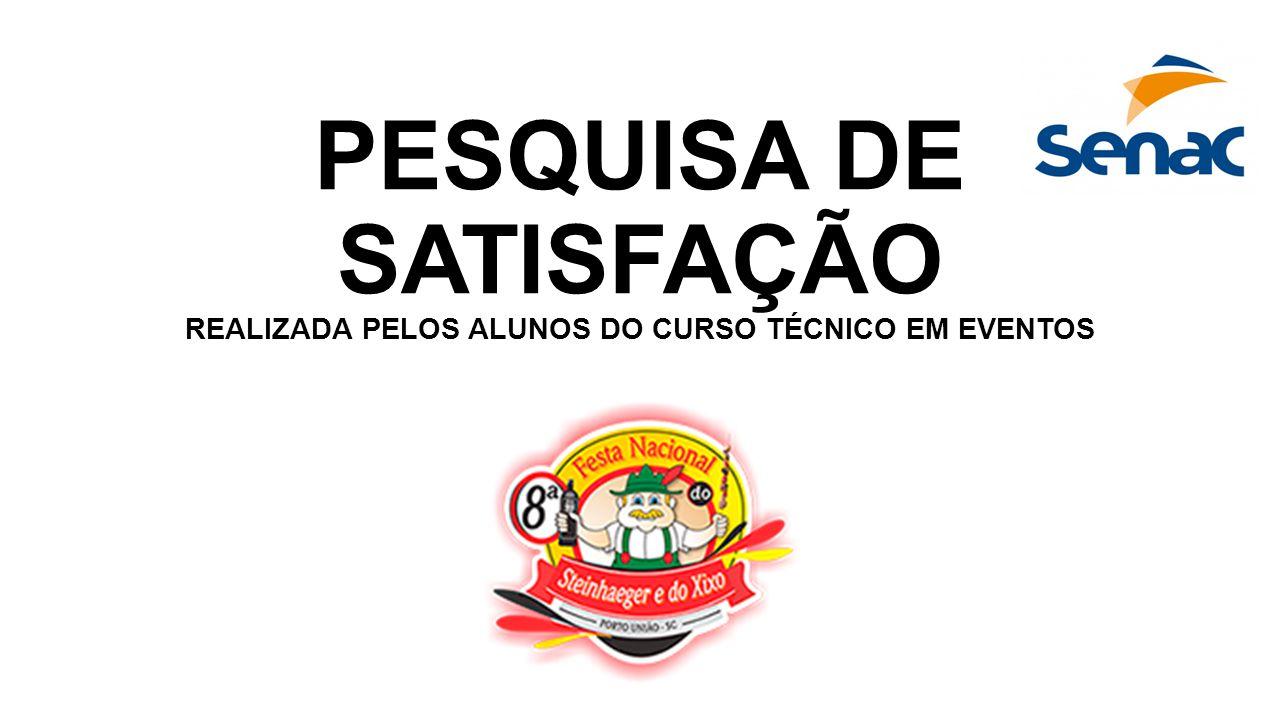 PESQUISA DE SATISFAÇÃO REALIZADA PELOS ALUNOS DO CURSO TÉCNICO EM EVENTOS
