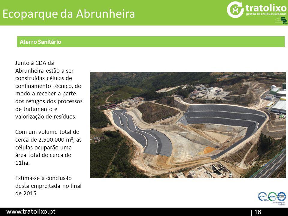 Aterro Sanitário (em construção) ETAR I Central de Digestão Anaeróbia Ecocentr o | 16 Título www.tratolixo.pt Ecoparque da Abrunheira Aterro Sanitário