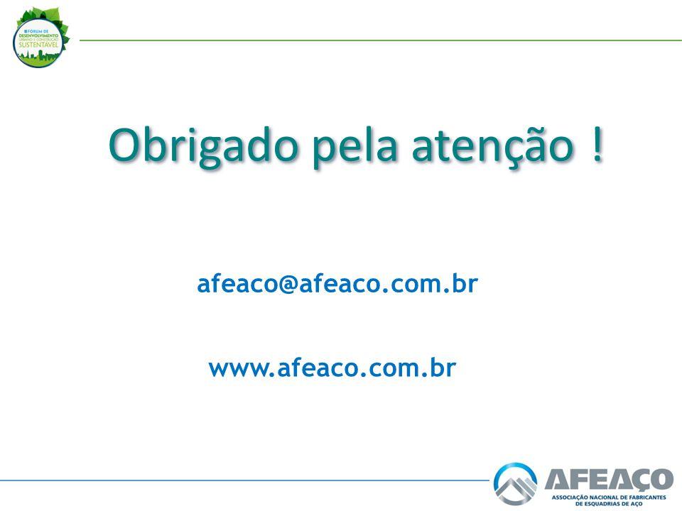 Obrigado pela atenção ! afeaco@afeaco.com.br www.afeaco.com.br