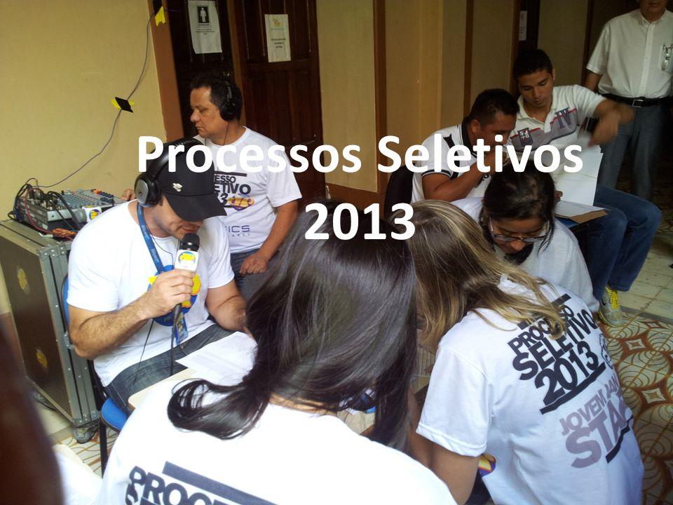 Análise técnica dos resultados dos Processos Seletivo/2013 Processos Seletivos 2013