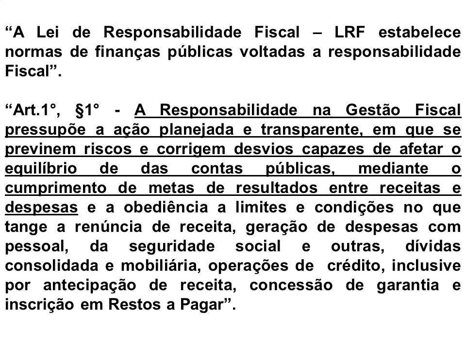 Lei de Responsabilidade Fiscal - LC nº 101/2000 Art.