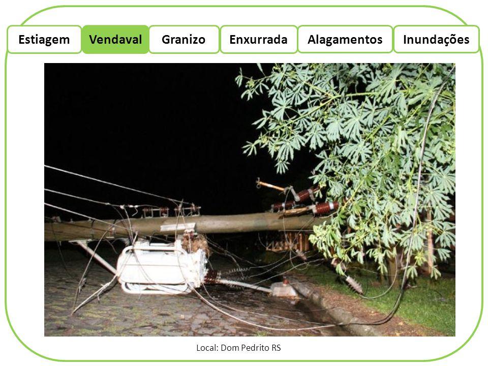 EstiagemEnxurradaVendaval Alagamentos Granizo Inundações Local: Dom Pedrito RS