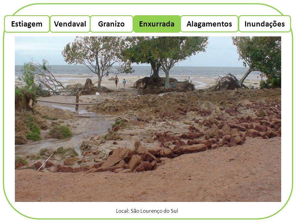 EstiagemEnxurradaVendaval Alagamentos Granizo Inundações Local: São Lourenço do Sul