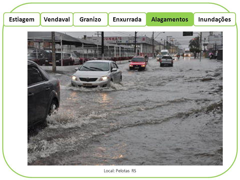 EstiagemEnxurradaVendaval Alagamentos Granizo Inundações Local: Pelotas RS