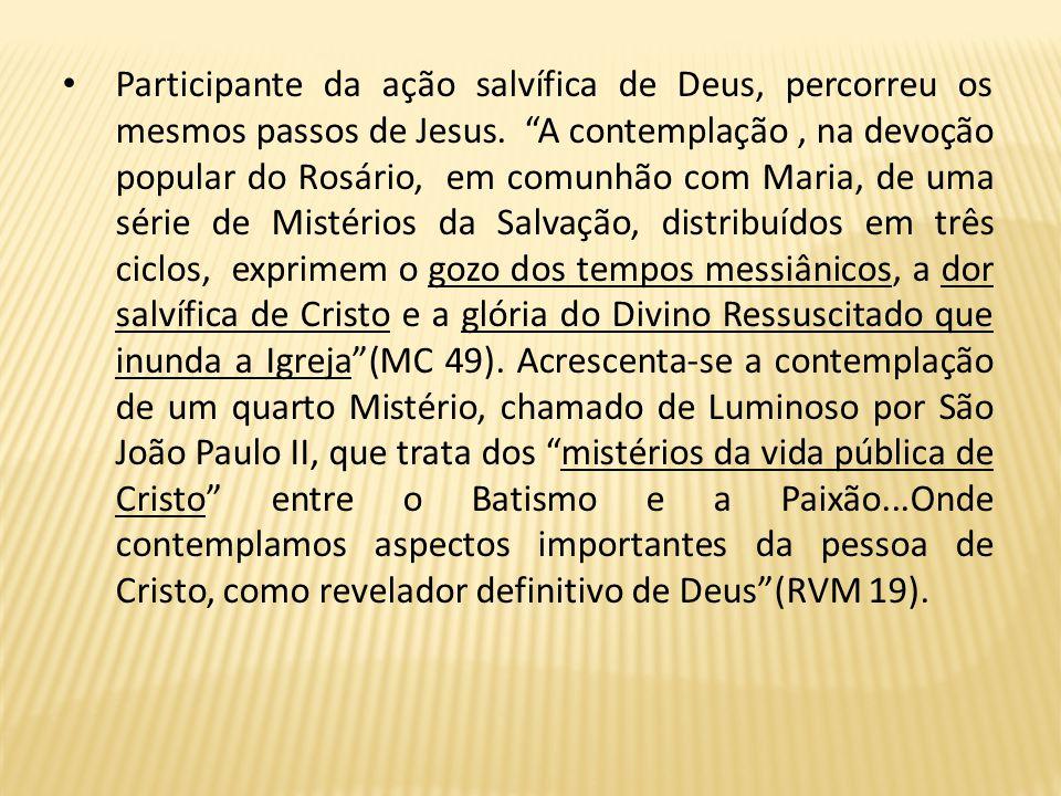 3.2 MARIA E SUA PRESENÇA NA AÇÃO SALVÍFICA Venerar, admirar, reconhecer a Mãe do Senhor, é cultuar a constante ação salvífica de Deus na história do h