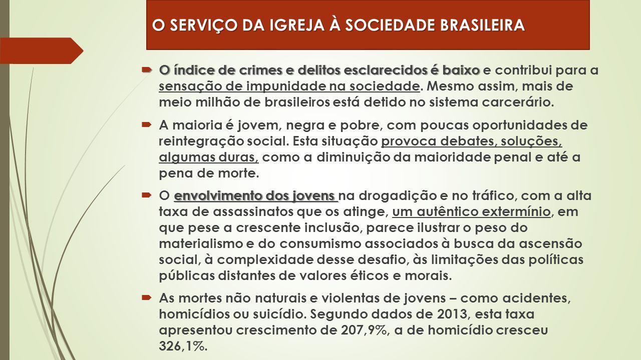  O índice de crimes e delitos esclarecidos é baixo  O índice de crimes e delitos esclarecidos é baixo e contribui para a sensação de impunidade na s