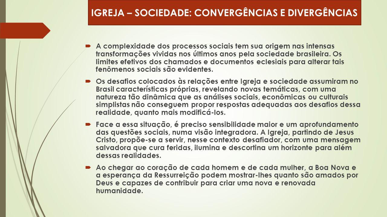  A complexidade dos processos sociais tem sua origem nas intensas transformações vividas nos últimos anos pela sociedade brasileira. Os limites efeti