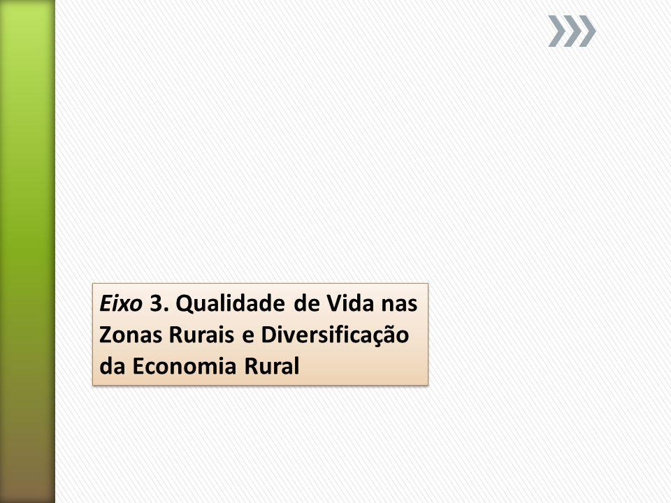 Eixo 3. Qualidade de Vida nas Zonas Rurais e Diversificação da Economia Rural