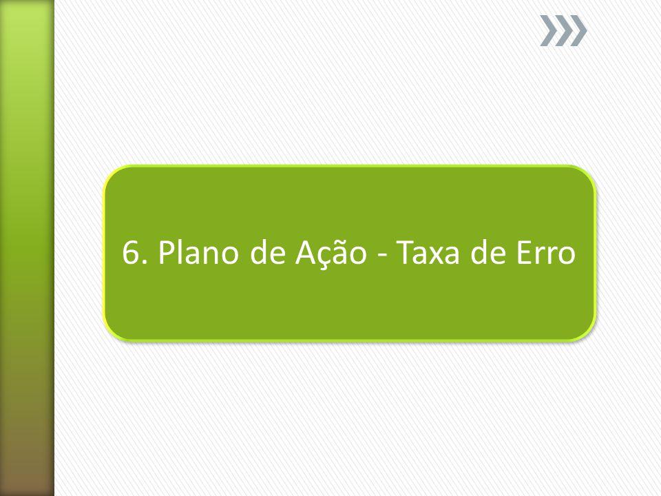 6. Plano de Ação - Taxa de Erro