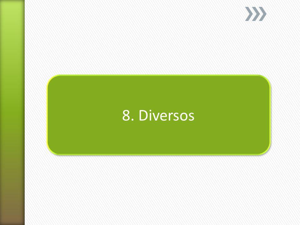 8. Diversos