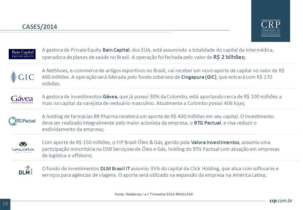 A gestora de Private Equity Bain Capital, dos EUA, está assumindo a totalidade do capital da Intermédica, operadora de planos de saúde no Brasil. A op