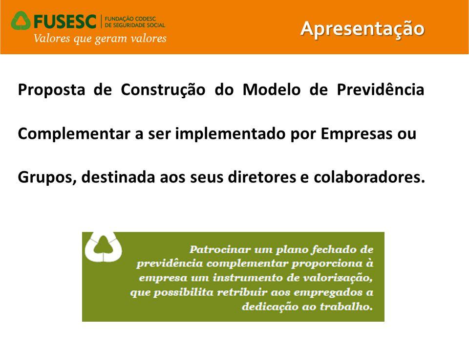 Proposta de Construção do Modelo de Previdência Complementar a ser implementado por Empresas ou Grupos, destinada aos seus diretores e colaboradores.