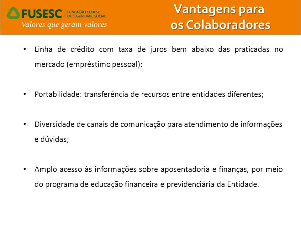 Linha de crédito com taxa de juros bem abaixo das praticadas no mercado (empréstimo pessoal); Portabilidade: transferência de recursos entre entidades