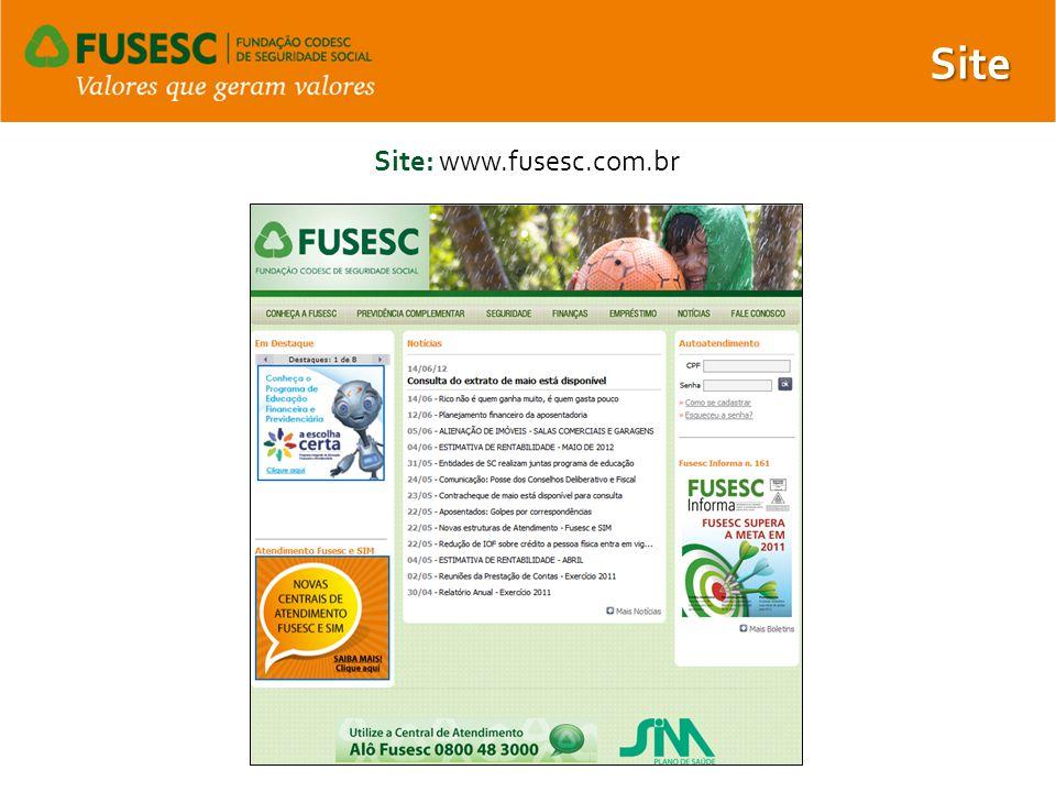 Site Site: www.fusesc.com.br