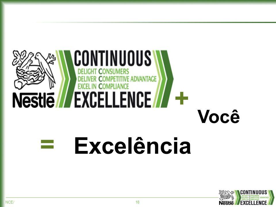 NCE/18 + Você = Excelência