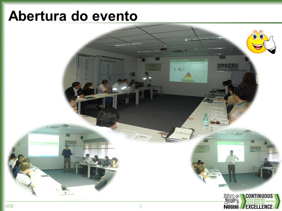 NCE/3 Abertura do evento