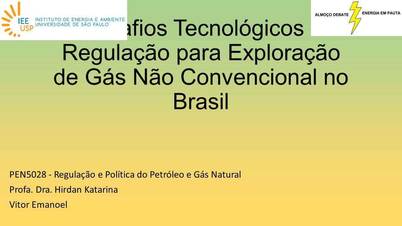 Desafios Tecnológicos e Regulação para Exploração de Gás Não Convencional no Brasil PEN5028 - Regulação e Política do Petróleo e Gás Natural Profa. Dr