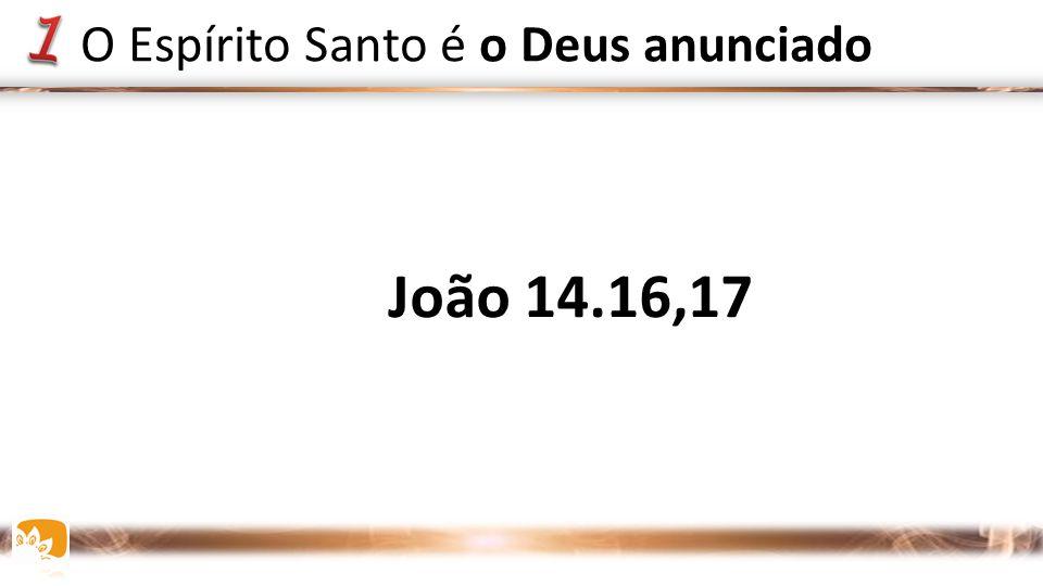 João 14.16,17 O Espírito Santo é o Deus anunciado