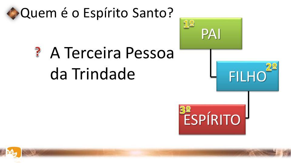 Quem é o Espírito Santo?  A Terceira Pessoa da Trindade PAIPAI FILHOFILHO ESPÍRITOESPÍRITO