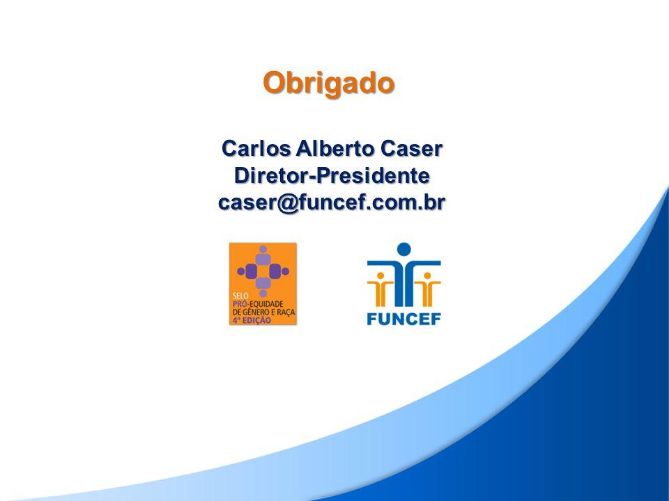 Carlos Alberto Caser Diretor-Presidente caser@funcef.com.br Obrigado