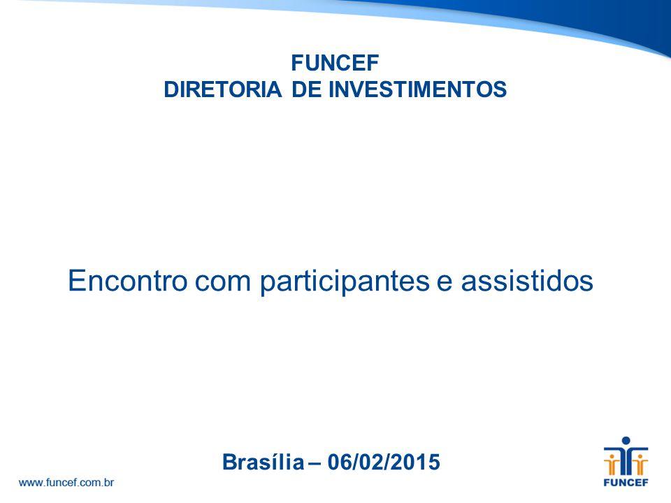 FUNCEF DIRETORIA DE INVESTIMENTOS Encontro com participantes e assistidos Brasília – 06/02/2015