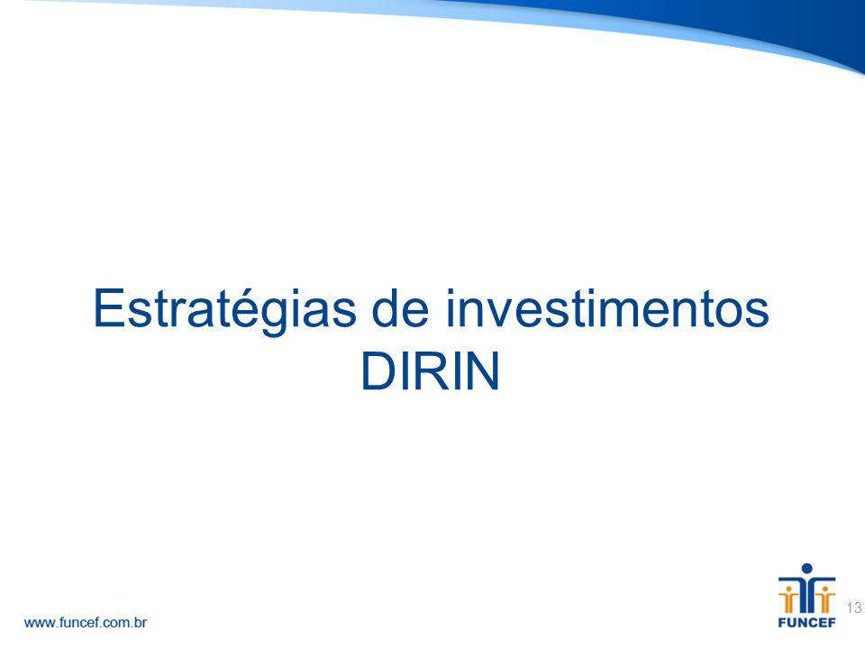 13 Estratégias de investimentos DIRIN