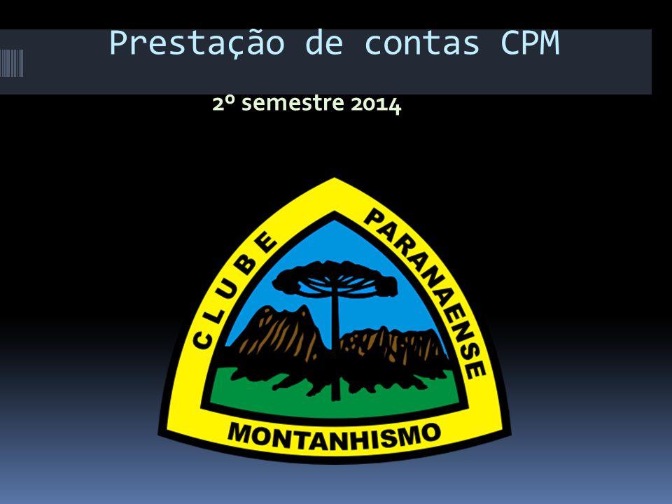 Prestação de contas CPM 2º semestre 2014