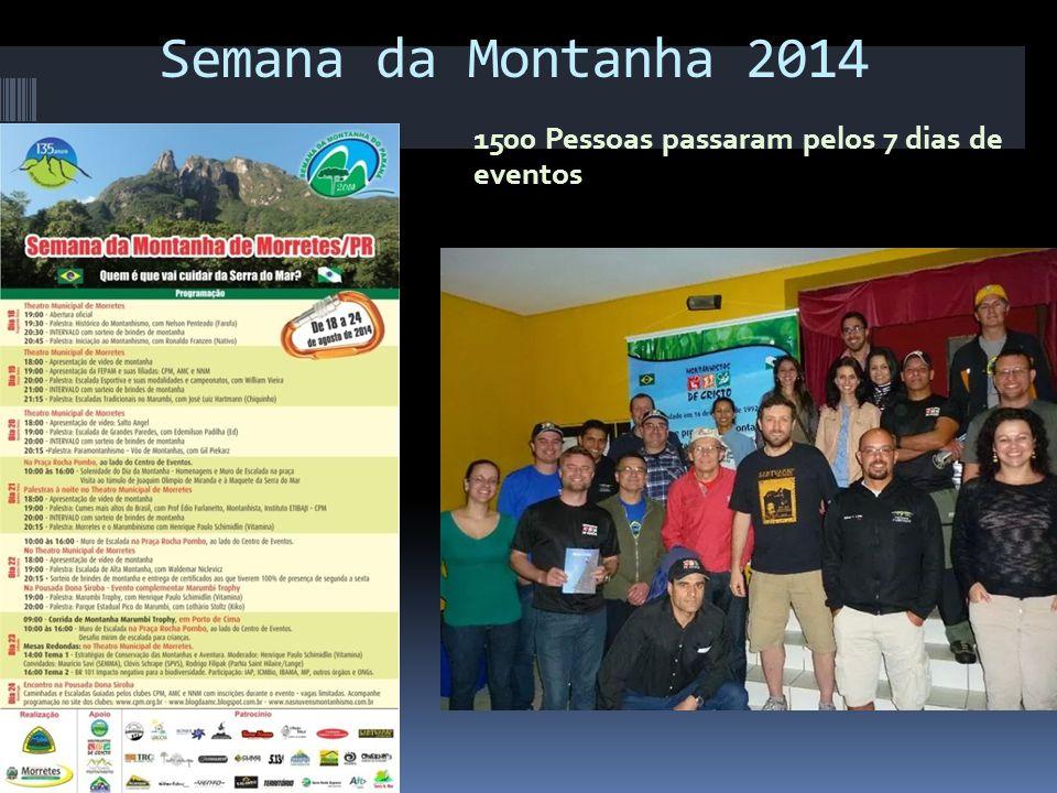 Semana da Montanha 2014 1500 Pessoas passaram pelos 7 dias de eventos