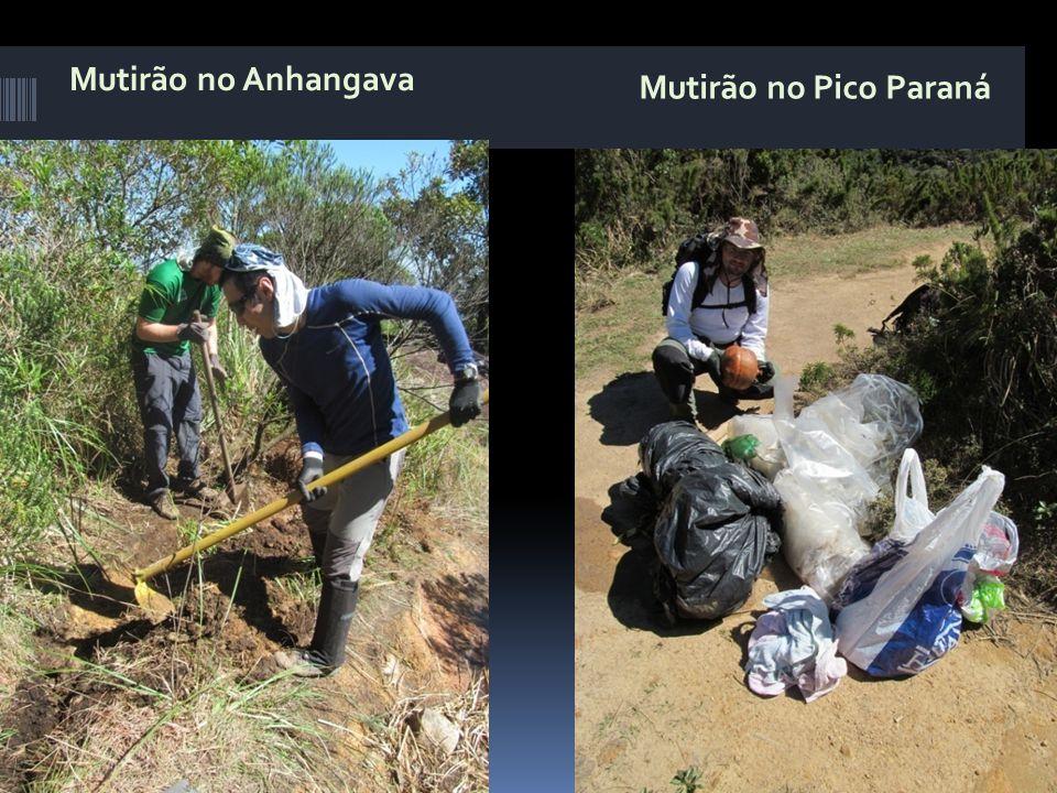 Mutirão no Anhangava Mutirão no Pico Paraná