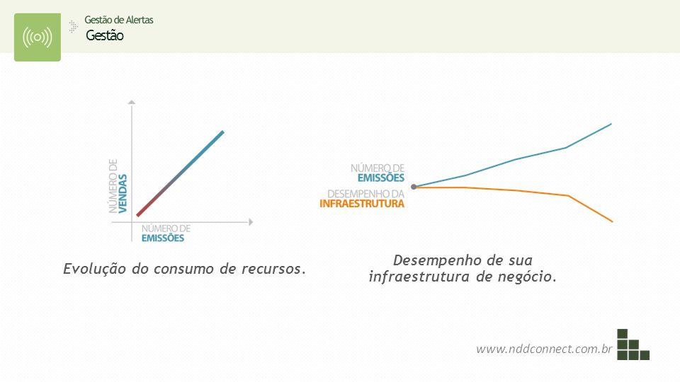 Gestão Evolução do consumo de recursos. Desempenho de sua infraestrutura de negócio. www.nddconnect.com.br