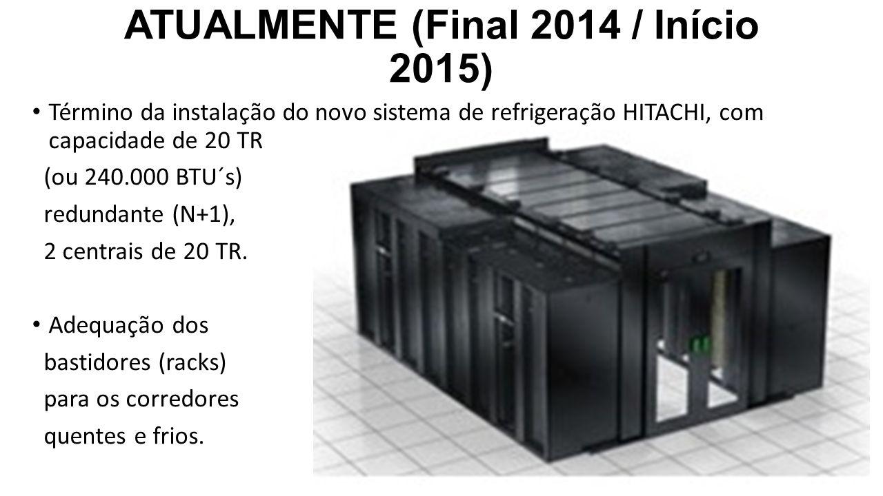 ATUALMENTE (Final 2014 / Início 2015) Término da instalação do novo sistema de refrigeração HITACHI, com capacidade de 20 TR (ou 240.000 BTU´s) redund