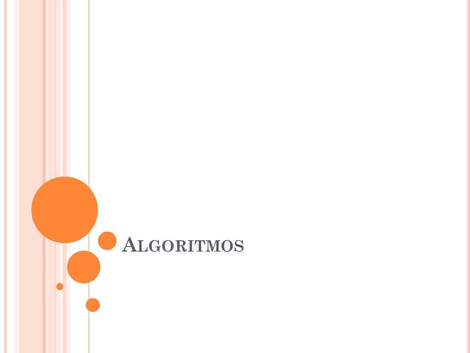 A LGORITMO Um algoritmo é formalmente uma sequência finita de passos que levam a execução de uma tarefa.