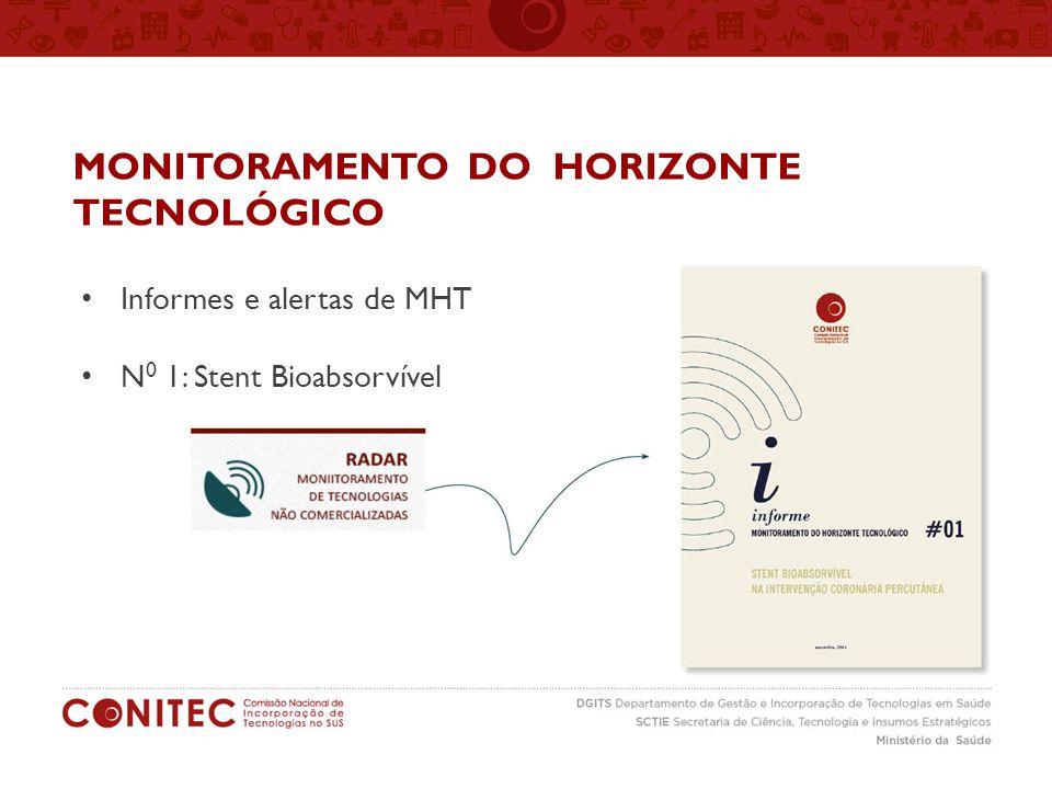 MONITORAMENTO DO HORIZONTE TECNOLÓGICO Informes e alertas de MHT N 0 1: Stent Bioabsorvível