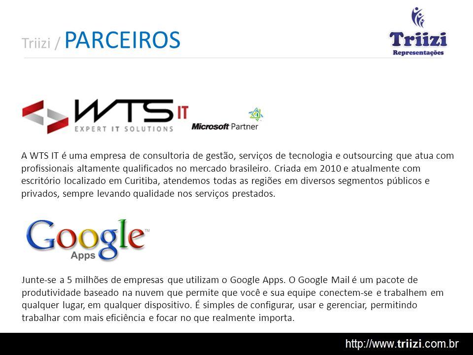 Triizi / PARCEIROS Junte-se a 5 milhões de empresas que utilizam o Google Apps. O Google Mail é um pacote de produtividade baseado na nuvem que permit