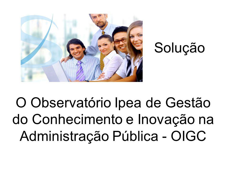 O Observatório Ipea de Gestão do Conhecimento e Inovação na Administração Pública - OIGC Solução