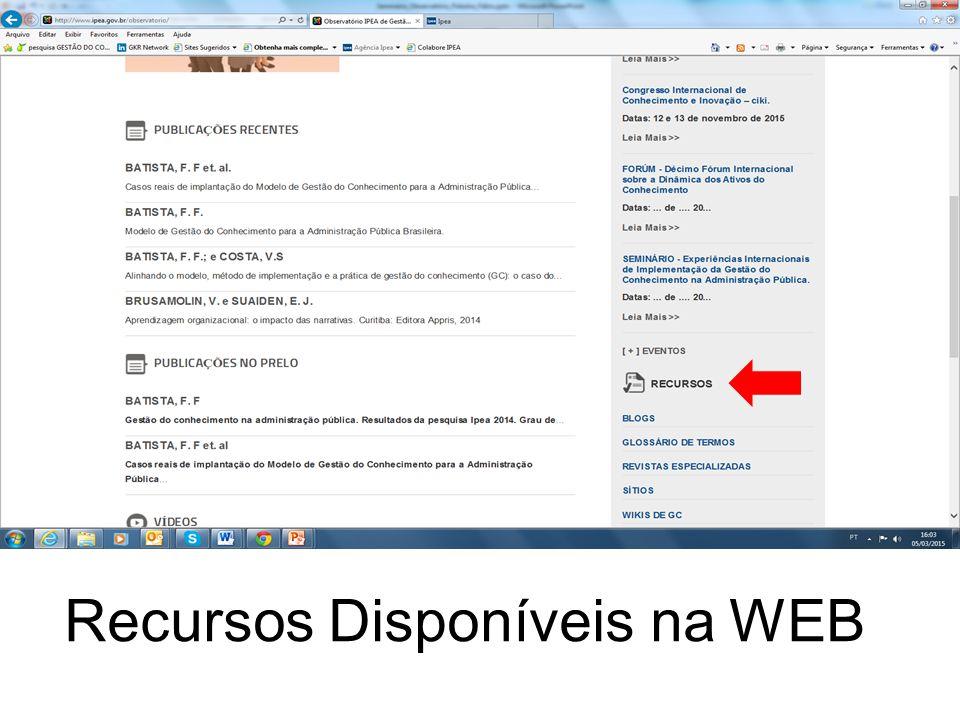 154 Recursos Disponíveis na WEB