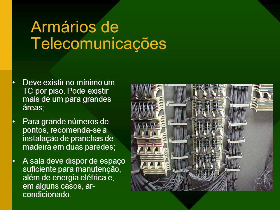 Armários de Telecomunicações Deve existir no mínimo um TC por piso.