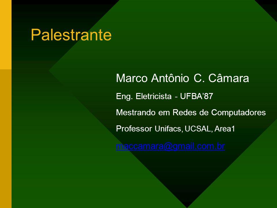 Palestrante Marco Antônio C.Câmara Eng.