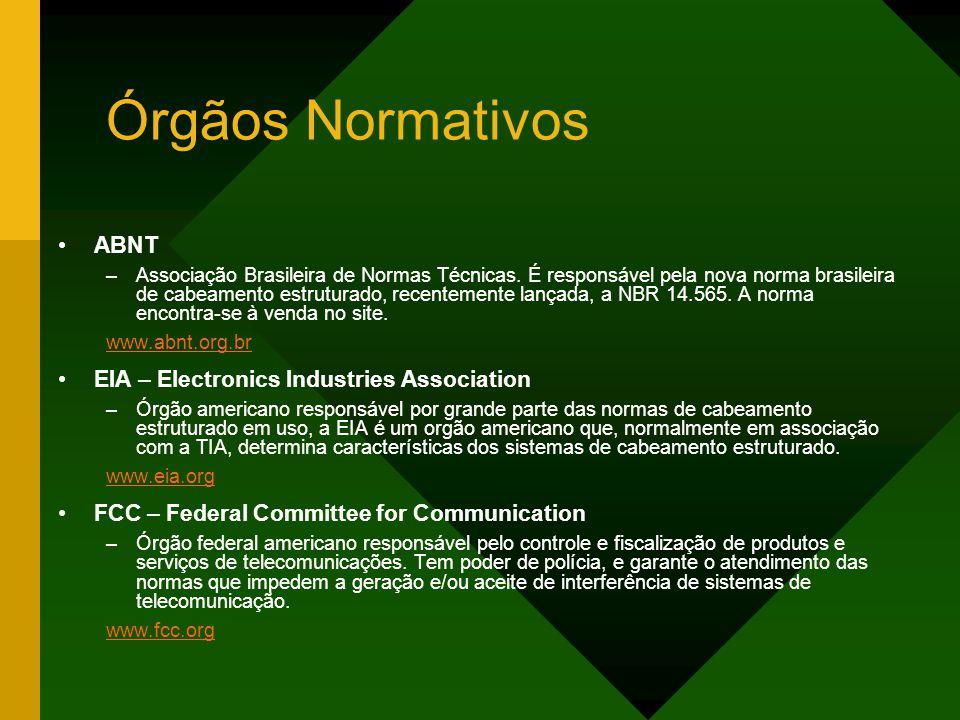 Órgãos Normativos ABNT –Associação Brasileira de Normas Técnicas.