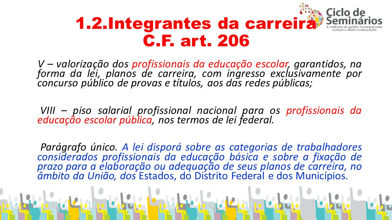 1.2.Integrantes da carreira C.F.art.