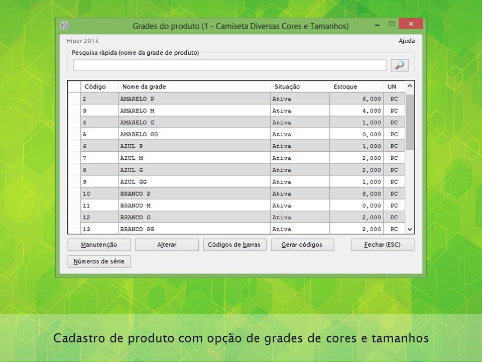 Múltiplos códigos de barras por produto com unidades de conversão (caixas, fardos, pacotes)