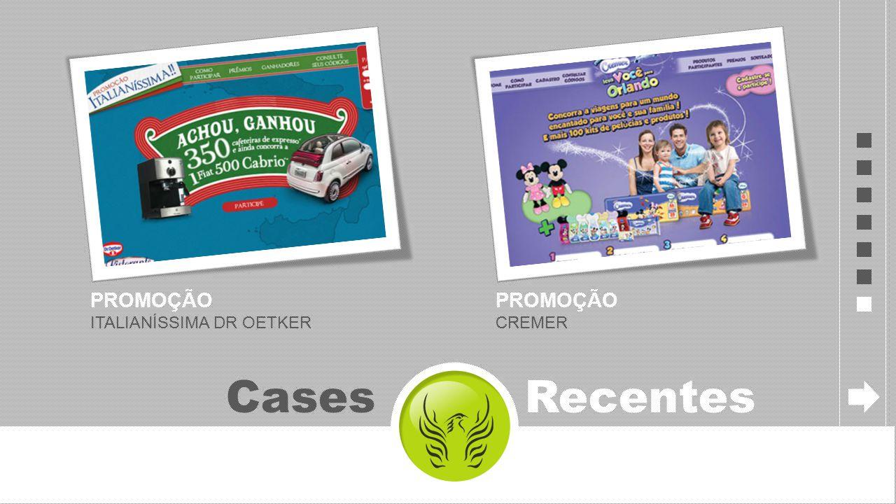 PROMOÇÃO ITALIANÍSSIMA DR OETKER Cases Recentes PROMOÇÃO CREMER